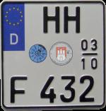 Zweizeiliges Krad Euro Saisonkennzeichen kosten bei uns € 15,-- per Stück.
