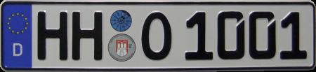 Wunschkennzeichen HH O 1001.