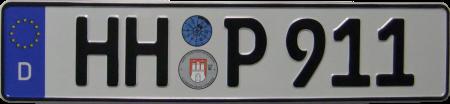 Wunschkennzeichen HH P 911.