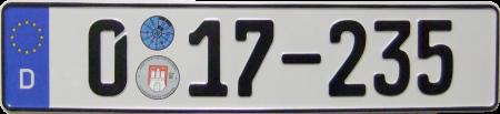 Autokennzeichen einzeilig Diplomatisches Corps und bevorrechtigter Internationaler Organisationen.