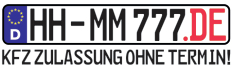 hh-mm777.de / Text: KFZ ZULLASSUNG OHNE TERMIN!